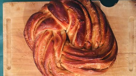 Sticky gingerbread and caramel curd bread Picture: Charlotte Smith-Jarvis