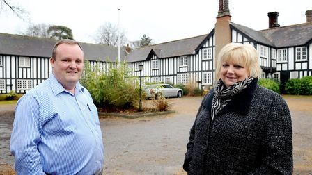 Nick and Jane Scrivens pictured in 2010 when they took over Lenwade House Hotel. Photo: Archant