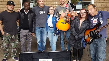 Professional and amateur musicians entertained people around the town. Picture: Lingo Design