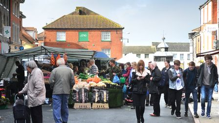North Walsham market could be moved because of gas works Picture: ANTONY KELLY