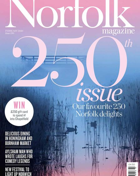 Norfolk magazine's 250th issue, for February 2020, is on sale now