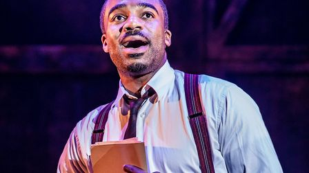 Ore Oduba as Aaron Fox in Curtains the Musical coming to Norwich Credit: Richard Davenport