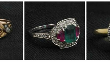 Items of jewellery that may have been stolen in Norfolk or Suffolk. Picture: Norfolk Police
