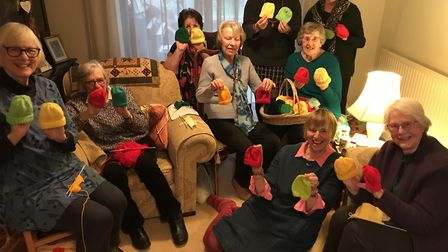 Members of the Loddon and District Women's Institute have been busy knitting coloured woolly hats fo