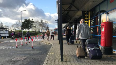 Passengers arrive back at Norwich airport from Tenerife. Picture: Archant.