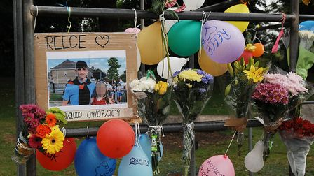 Tributes have been left in The Walks to Reece Hornibrook Picture: Chris Bishop