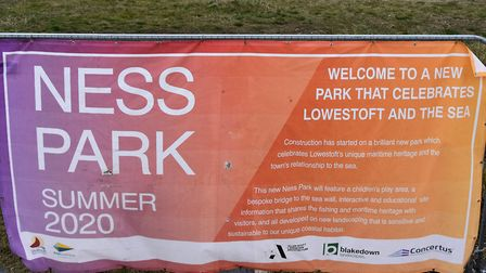 Work to turn Ness Point in Lowestoft into a landmark destination is continuing as the most easterly