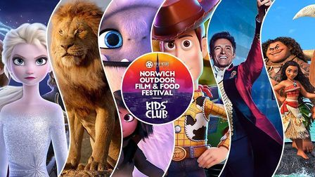 The Kids' Club choices at the Norwich Outdoor Film and Food Festival Credit: Supplied