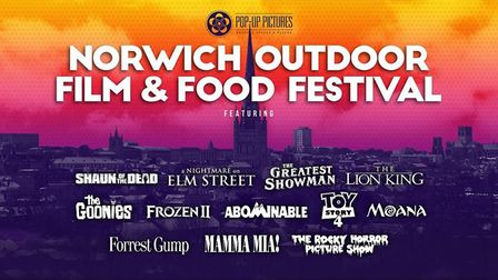 Norwich Outdoor Film and Food Festival is launching in Eaton Park with 12 blockbusters Credit: Suppl