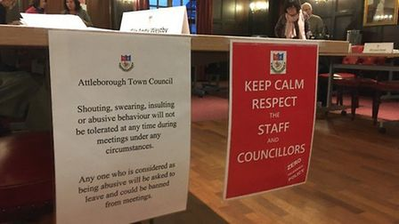 Members of the public at Attleborough Town Council's meeting on March 9 were told to 'Keep calm resp