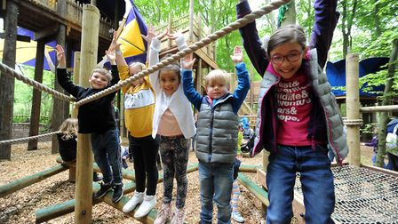 Action from the launch of the new Towering Treetop Tangles at BeWILDerwood. PICTURE: Jamie Honeywood