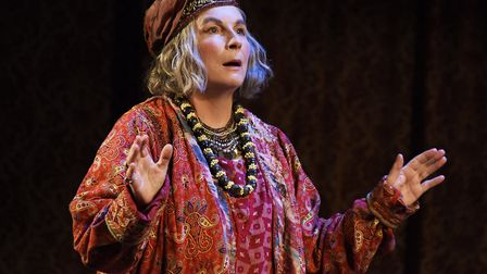 Jennifer Saunders stars as Madame Arcati in Blithe Spirit at Norwich Theatre Royal. Picture: Nobby C