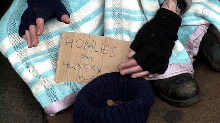 The estimated number of rough sleepers in Norfolk has increased - but the number is declining in Nor