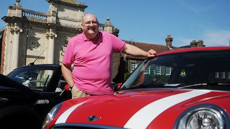 West Norfolk council leader Brian Long at the Mini meet. Picture: Chris Bishop