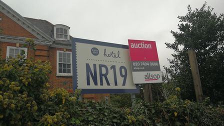 Hotel NR19, in Dereham. The hotel was also known as Wine Lodge and Hill House Hotel in recent years.