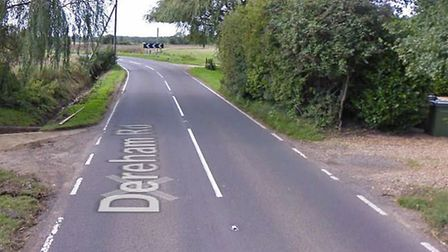 A car caught fire in a garage in Ovington near Thetford. Picture: Googlemaps