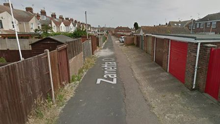 A man exposed himself to a teenage girl in an alleyway in Zanetta Court, Lowestoft. Picture: Google