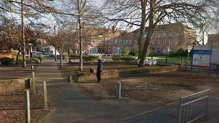 Norwich Community Hospital, which has confirmed it is swabbing people for coronavirus. Picture: Goog