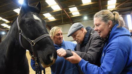 Len Quick, from St Leonards Court at Mundford Residential Dementia Care Home, met Jupiter at the Mag