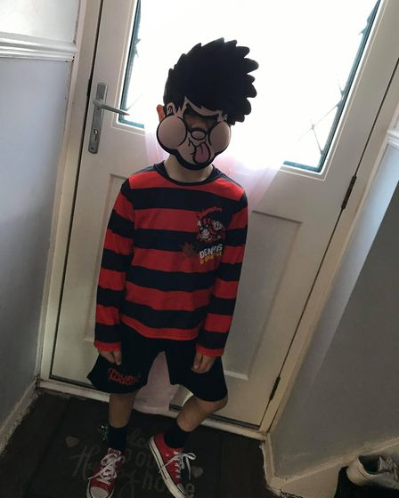 In 2019, the son of Nikita Powell, who is a parent at St Nicholas Priory, dressed up as Dennis the M