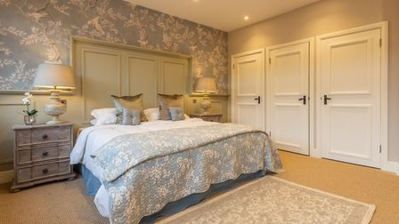 One of the main bedrooms in The Owl House, Hill Farm Massingham. Picture: Iceni Imaging