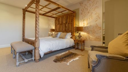 Another of the main bedrooms in Red Stag Lodge, Hill Farm Massingham. Picture: Iceni Imaging
