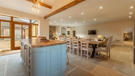 The kitchen in Red Stag Lodge, Hill Farm Massingham. Picture: Iceni Imaging