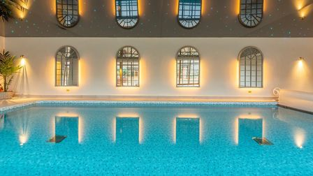 A private heated swimming pool which is avaliable to guests. There is also a sauna. Picture: Iceni I