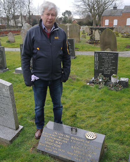 Alan Hodgson, whose parents' and brother's graves were targeted by thieves. Picture: Chris Bishop