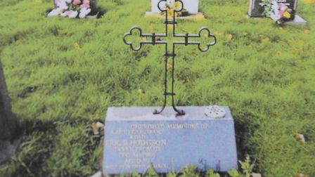 One of the crosses which was stolen from a graveyard in Terrington St Clement. Picture: Hodgson Fami