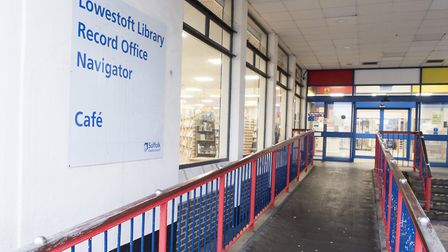 Lowestoft Library, prior to the recent record office works. Picture: Nick Butcher