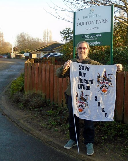Chairman of the Save Our Record Office (SORO) group in Lowestoft, Bob Collis. Picture: SORO group