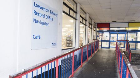 Scaffolding recently went up at Lowestoft Library as repair work was carried out to the roof. The li