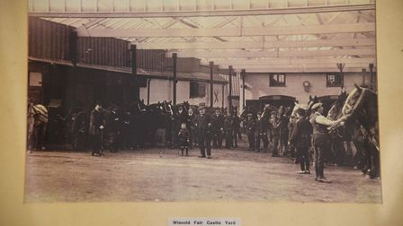 Barry Hawkins auctioneers in Downham Market. Pictured is the Winnold Fair Castle Yard in the early 1
