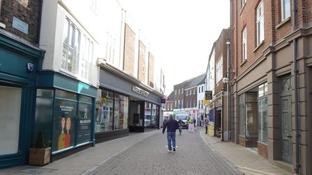 King's Lynn's main shopping streets are almost deserted the day after the World Health Organisation