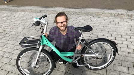 Phil Ellis, CEO of Beryl, with one of the new Beryl bikes which will be launched in the Norwich next