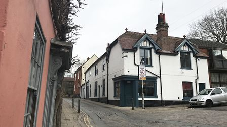 Micawbers Tavern from Cow Hill. picture: Ella Wilkinson