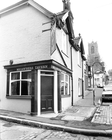 The renowned Micawber's Tavern, pictured in 1977. Pic: Archant library