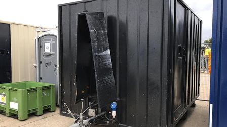 A premises on Pinbush Road on the South Lowestoft Industrial Estate was broken into and a large amou