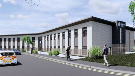 Plans for the new Broadland Police Station near Postwick. Picture: Chaplin Farrant