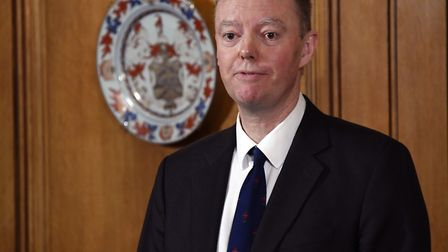 Chief Medical Officer for England Chris Witty speaks during a press conference, at 10 Downing Street