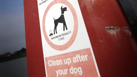 A Norfolk council has fined a mean £80 after he threw a plastic bag of dog poo over his garden fence