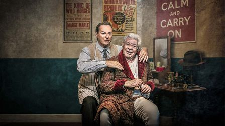 Julian Clary and Matthew Kelly star inThe Dresser. Credit: Supplied by Norwich Theatre Royal