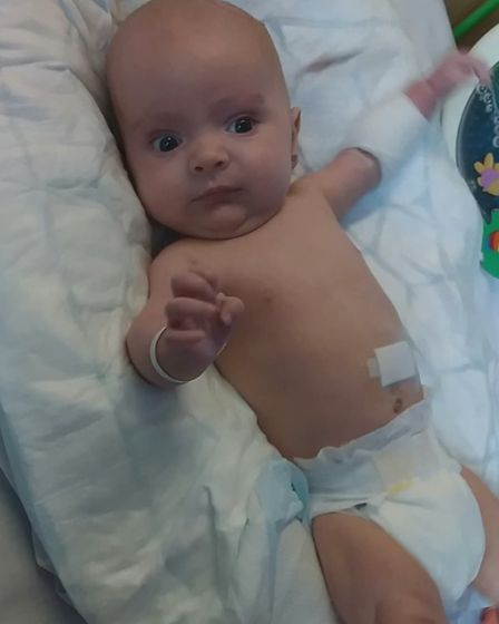 Zachary Dorsett was only two months old when he was rushed into hospital after contracting meningiti