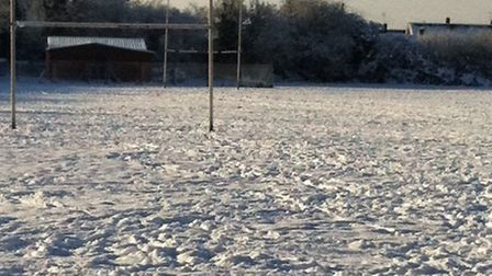 Dereham Rugby Club under a blanket of snow at the weekend. Picture: Ian Clarke.