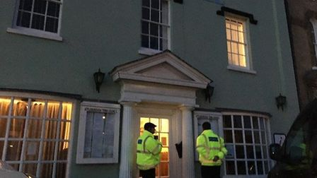 Security blocked the public and press from entering Attleborough Town Hall on February 27 as the fut