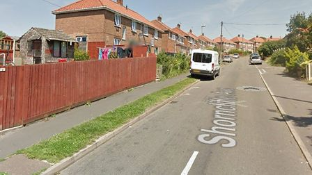 Shorncliffe Avenue, near Drayton Road in Norwich, where a 26-year-old man was the victim of an attem