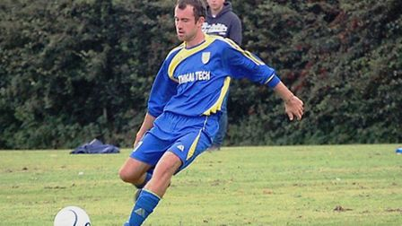 James Cane scorer of the second goal for North Elmham & Lyng.