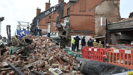 Emergency services at the scene on Hinckley Road in Leicester. Aaron Chown PA Archive/PA Images