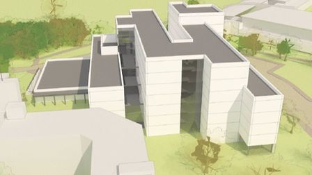 The University of East Anglia's Sky House plans. Picture: UEA